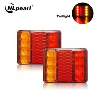 цена на NLpearl Car Light Assembly LED Rear Tail Lights for Truck Waterproof Warning Lights Turn Signal Light Rear Lamp Tailight 12V 24V