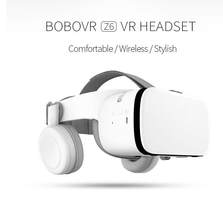 Bobo VR Z6 Casque Helmet 3D VR Glasses Virtual Reality Headset for IPhone Android Smartphone Smart Phone Goggles Headset