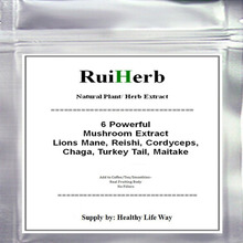 цена на 100gram Powerful 6 Mushroom Blend Extract Powder Lions Mane, Reishi, Cordyceps, Chaga, Turkey Tail, Maitake free shipping