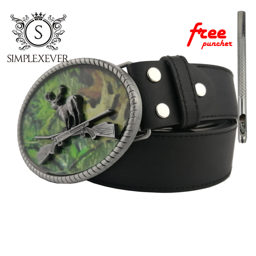 Deer Belt Buckles For Men Women Gun Buckles Metal Cowboy Cowgirl Western Fivela Marvel Boucle Ceinture