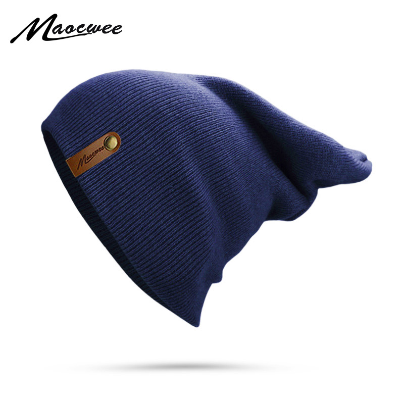 Women Man Winter Knitted Beanie Hat Casual Solid Color Retro Ski Caps Outdoor Autumn And Spring Thick Warm Adult Soft Beanie Hat