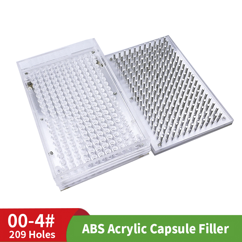 Home ABS Capsule Board 00 # 209 Hole Capsule Shell Filler Capsule Filling Filling Plate Filling Machine Filler
