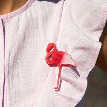 Bonito acrílico flamingo broches para as mulheres broche pino pássaro animais broches moda casaco acessórios pinos broche femme bijoux