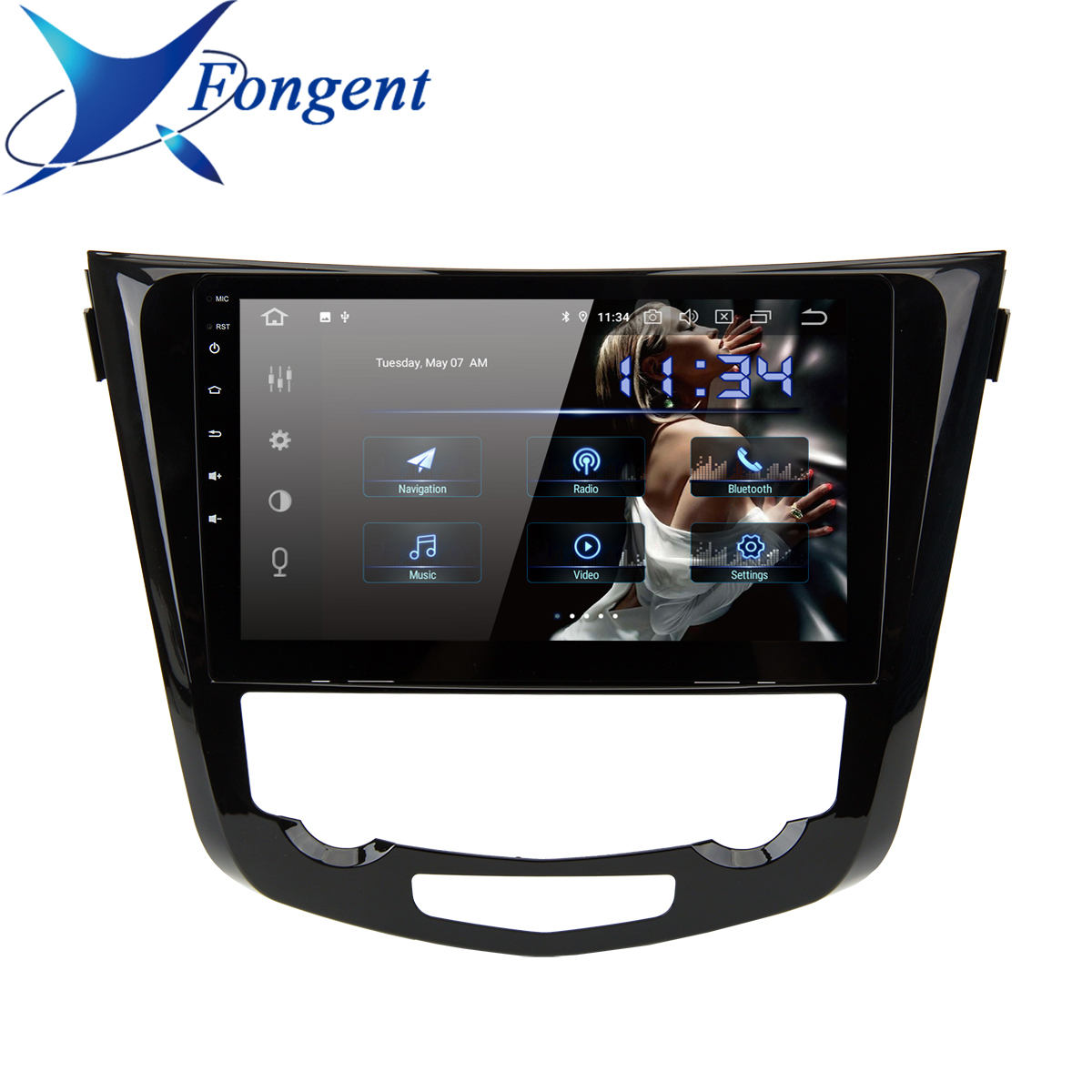 10.2 inch IPS Screen Car Multimedia Android GPS NAVI for Nissan X-Trail Qashqai j11 j10 Radio 2014 2015 2016 2017 2018 2019 2020 image