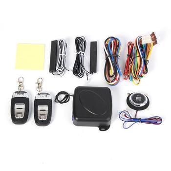 12V dostęp bezkluczykowy System alarmowy 9 sztuk zestaw samochód SUV dostęp bezkluczykowy rozruch silnika System alarmowy przycisk zdalny rozrusznik Stop tanie i dobre opinie CN (pochodzenie) Remote Car SUV Keyless