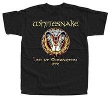 Whitesnake Live At Donington 1990, T SHIRT (BLACK) All Size S-5XL Free Shipping Tops Tee Tshirt