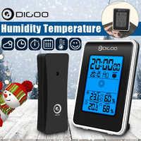 Digoo DG-TH1981 Outdoor Digital LCD Hygrometer Thermometer Wetter Station Drahtlose Indoor Prognose Sensor Uhr Blue Backlit
