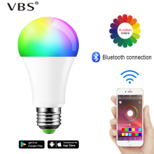 Magic Smart Light Bulb Warm/Cold  White and RGB Color 110V 220v E27 B22 15w Wireless App Control Bluetooth Changing Lamp home