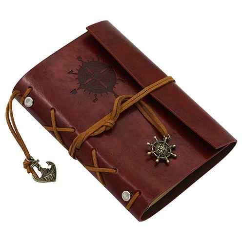 1 Pc Retro Ankers Faux Lederen Cover Notebook Journal Reiziger Roer Anker Boek Dagboek Leeg Losbladige Ringband 5 Kleuren