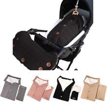 цены на Newborn Baby Swaddle Blanket Plus Velvets Stroller Wrap Toddler Thicks Cable Knit Soft Warm Sleeping Bag Sleep Sack with Buttons  в интернет-магазинах