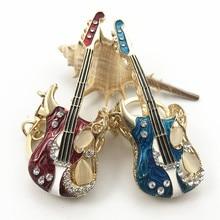 Original New Fashion Guitar Keychains Woman Innovative Guitar Key Chain Car Wallet Bag Handbag Key Ring Jewelry Gift Ornaments new astrology key chain 12 zodiac aries gemini wallet key chain accessory gift fashion taurus key chain a birthday present woman