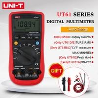 UNI T UNI T UT61E USB Tester UT61A 61B 61C 61D  Digital Multimeter True RMS Auto Range Meter USB Testers LCD Mini Multimetro|Multimeters| |  -