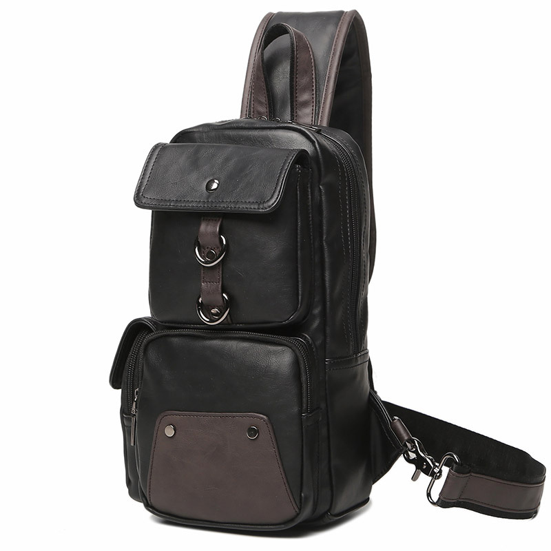Shoulder Bag Summer Hide Substance Chest Bag Korean-style Men's Bag Fashion Chest Pack Street Fashion Multi-functional