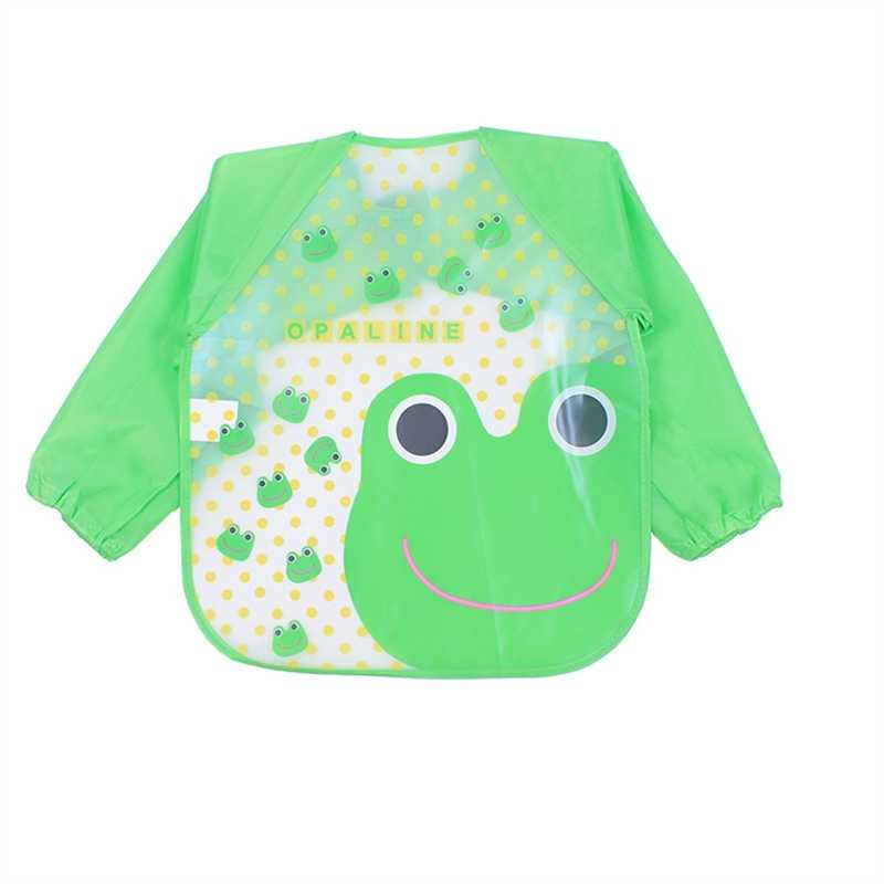 Cute Baby Bibs Waterproof Long Sleeve Aprons Children Feeding Smock Bib Burp Clothes Soft Eat Toddler Baberos Bavoir Clothing