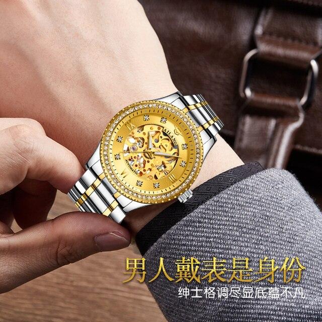 Фото ailang новые оригинальные механические часы с бриллиантами автоматические цена