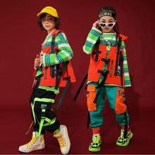 Hip Hop Kids Jazz Dance Costumes for Girls Boys Clothes Ballroom Dancing Costume