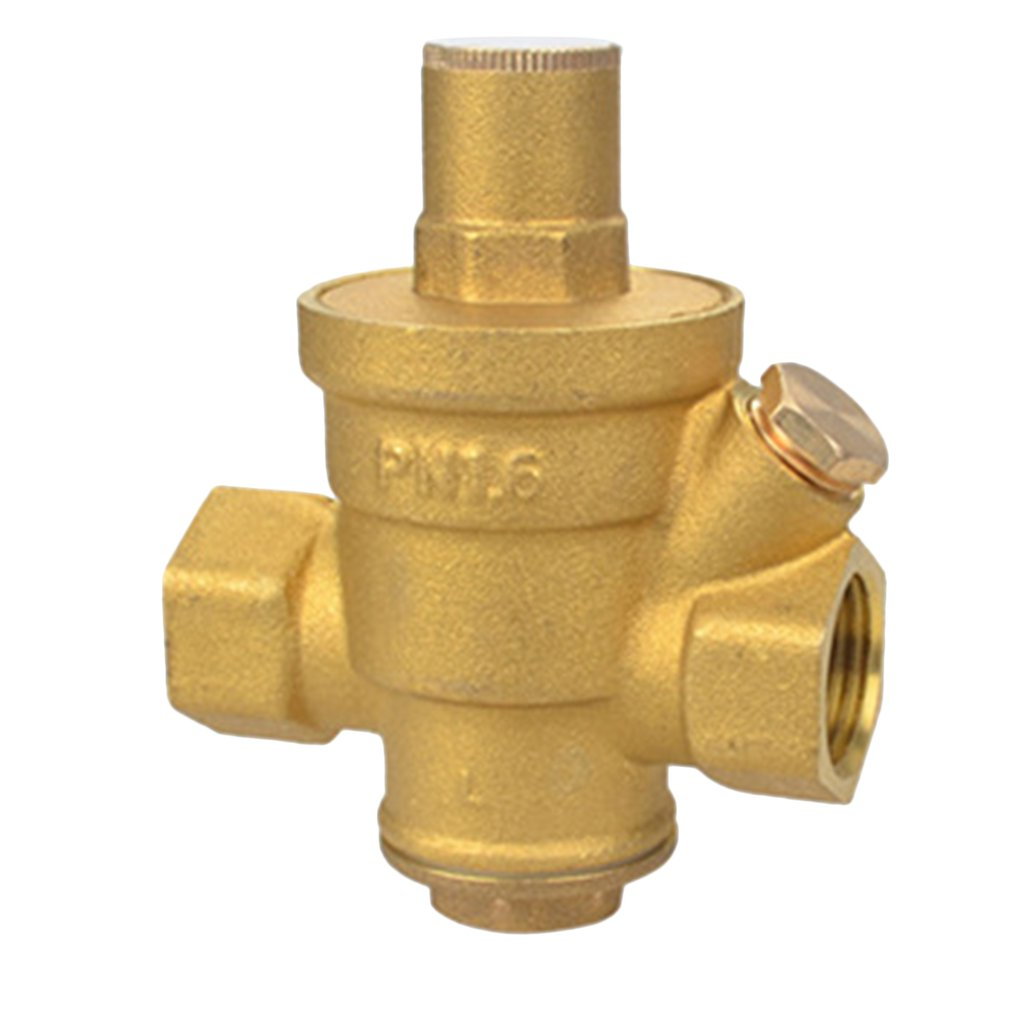 4/6 Points Brass Water Pressure Reducing Maintaining Valves Regulator Mayitr Adjustable Relief Valves With Gauge Meter 85*63mm
