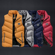 Nouveaux hommes gilet vestes chaud épais automne hiver décontracté à capuche manteau sans manches mâle solide fermeture éclair sweats à capuche bas gilet en plein air