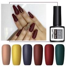LEMOOC 8 мл матовое верхнее покрытие Цвет УФ-гель для ногтей розовый синий красный полуперманентный замачиваемый УФ-гель лак для ногтей Гель-краска