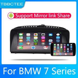 Android 2 rádio Do Carro um Din Multimedia Video Player auto Stereo MAPA GPS Para BMW Série 7 E65 E66 2001 ~ 2008 CCC Media de Navegação Navi