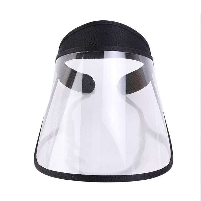 Clear Protective Mask Cover Plastic Anti-fog Saliva Face Shields Mask 5