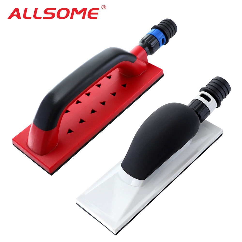 ALLSOME Sanding Block Hand Dust Extraction Sanding Grinding Sponge Block Dust Free Dust Free Block Abrasive Tools HT2809-2810
