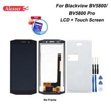 "Alesserためblackview BV5800 lcdディスプレイとタッチスクリーン + フィルムアセンブリ修理部品 + ツール5.5 ""blackview BV5800プロ"