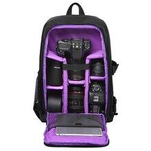 """多機能防水 w/レインカバー 15.6 """"ラップトップビデオケースデジタル一眼レフ写真入りのバックパックカメラソフト一眼"""