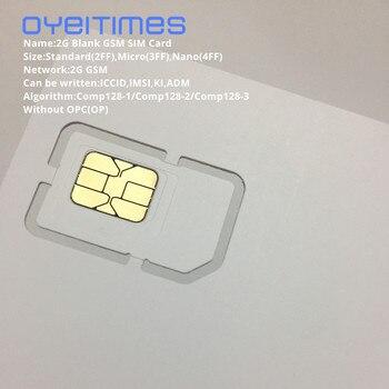 OYEITIMES 2G GSM SIM Card Blank SIM Card 2G Programmable GSM SIM Card ICCID IMSI PIN PUK ADM KI COMP128 Algorith Without OP/OPC m281 2g gsm desk phone sim based wireless landline telephone