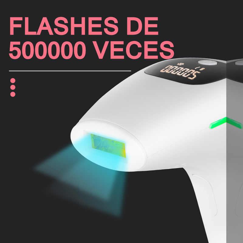 Máquina de depilación láser IPL, depiladora láser con 500000 Flashes, remoción permanente profesional, recortador de Bikini sin dolor para fotos eléctricas