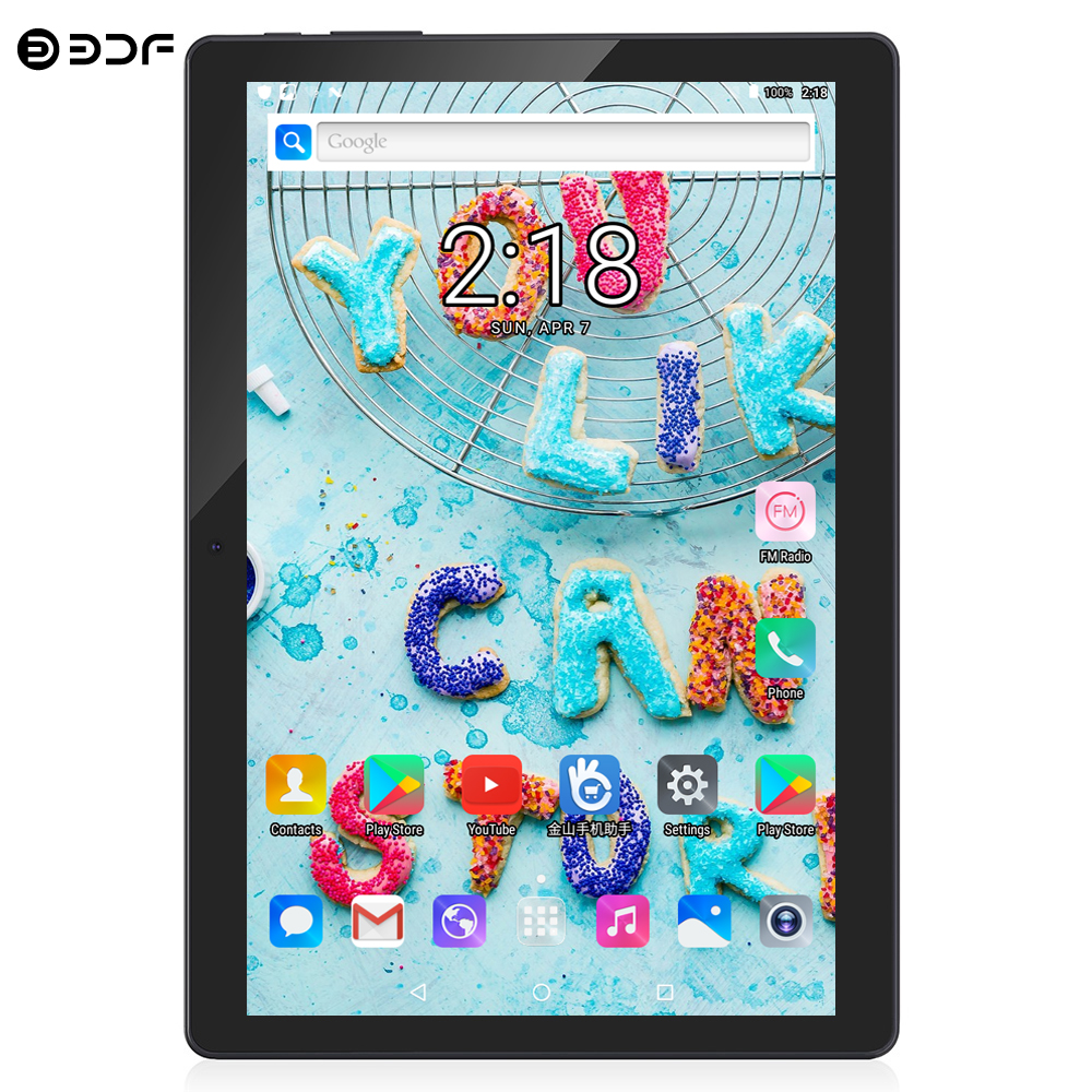 BDF 2020 Best-selling 10 Inch 3G Phone Call Tablet Pc Android 7.0 Quad Core 1GB/32GB CE Brand Dual SIM Card WiFi 10.1 Tablets