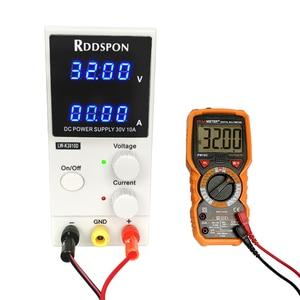 Image 2 - 30V 10A מיני מתכוונן DC אספקת חשמל K3010D 4 ספרות תצוגת מתג רגולטור מעבדה אספקת חשמל עבור טלפון נייד תיקון