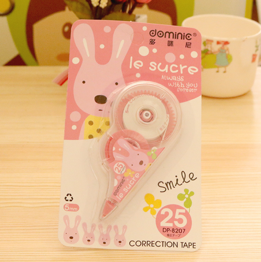 5mm*50m Long Cute Rabbit Correction Tape Roller White Sticker Kawaii Stationery Office School Supplies Student Gift Prizes Dairy