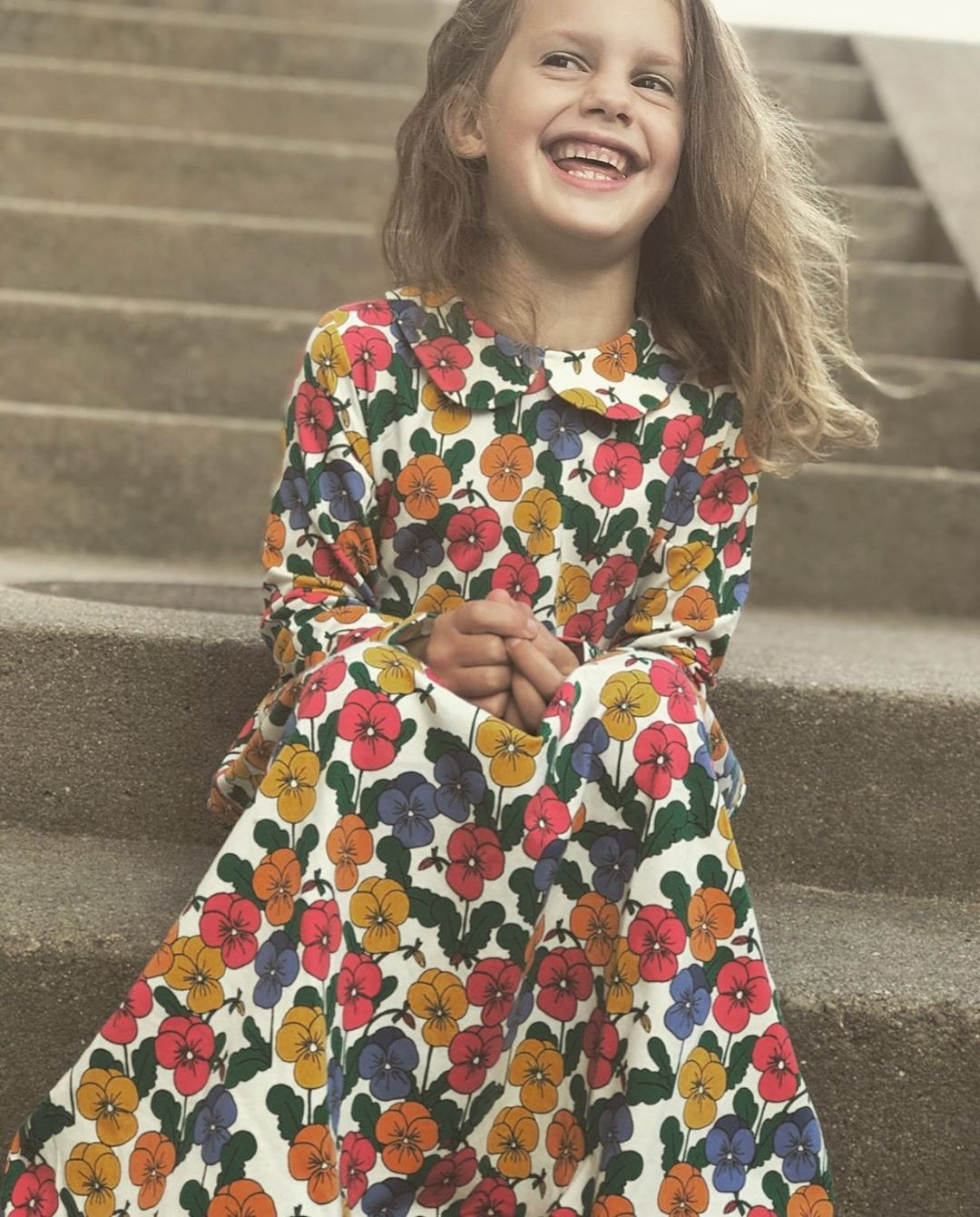 MINI Brand Kids Clothes T-shirts 2021 Autumn Girls Full Floral Pattern Dress Cotton Fashion Baby Romper Girl Boys Casual Pants 5