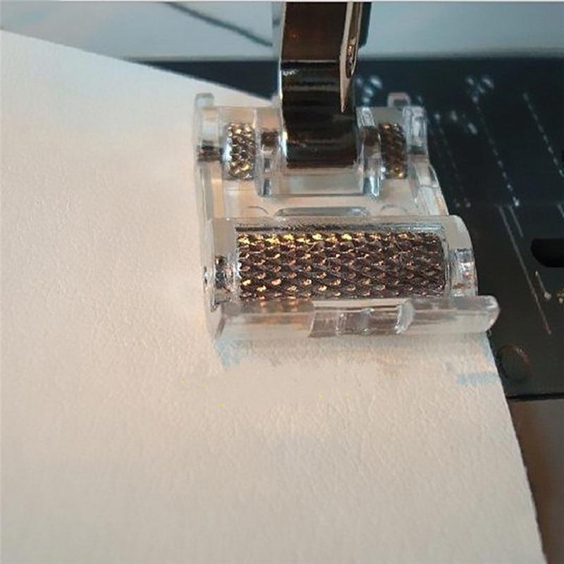 Роликовая прижимная лапка с низким хвостовиком для Snap Singer Brother, швейная машина Janome, Швейные аксессуары для одежды, тканевая кожа, Новинка