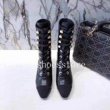 Брендовая дизайнерская женская обувь из натуральной кожи г. Осенне-зимние модные женские ботинки на высоком каблуке с острым носком