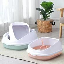 Bedpan Sand-Box Cats-Litter-Box Cat-Tray Cat-Supplies Toilette Anti-Splash Kitten Plastic