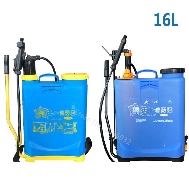 16L Piggyback Manual Sprayer Agricultural Fight Drugs Machine Backpack High-pressure Pesticide Spray Pot Multi-function Sprayer