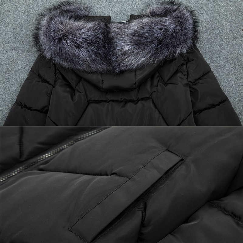 Förderung preis! big Pelz 2020New Mode Winter Jacke Frauen Unten Parkas Frauen Plus größe 7XL Winter Mantel Weibliche Warme Oberbekleidung