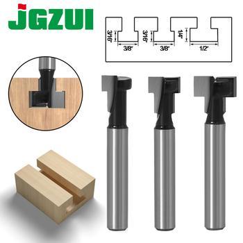 "1pc 1/4"" Shank 6mm T-Slot Cutter Router Bit Set Hex Bolt Key Hole Bits T Slotting Milling Cutter For Wood Woodworking"