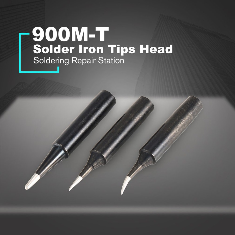 900M T Combination Soldering Iron Tips Head Replacement Solder Iron Head Soldering Tips Tool Soldering Repair Station Kits