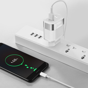 Image 5 - HOCO PD QC3.0 USB Fast Phone Charger 18W Quick Charge 3.0 EU US Plug Wall USB Charger Adapter Full Agreement for iPhone Samsung