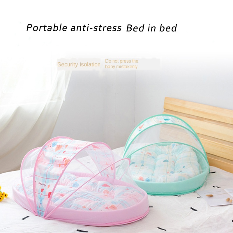 3pcs Portable Baby Bed With Mosquito Net Travel Mobile Crib Infant Newborn Multi-function Folding Baby Nest Toddler Sleeping Bed