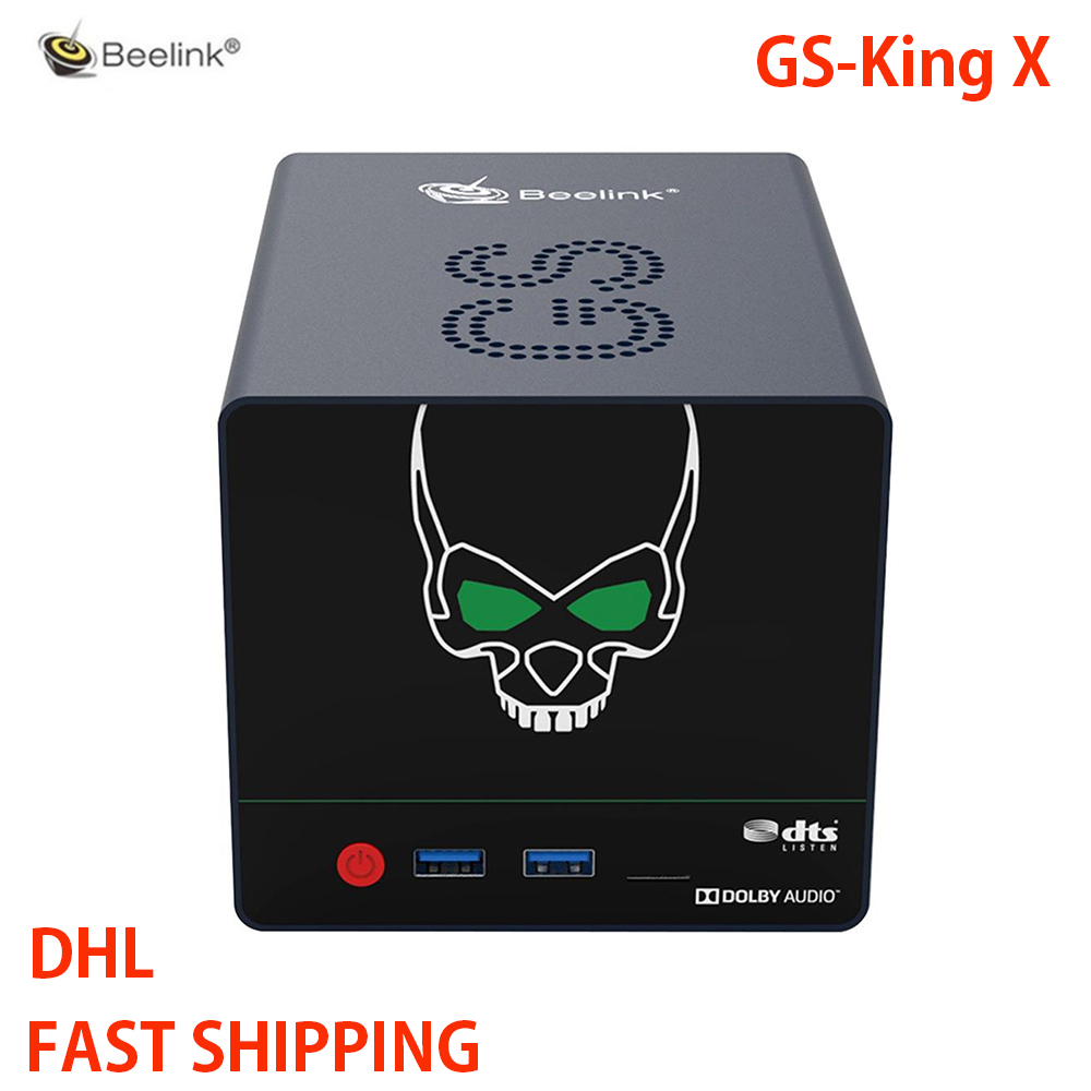 Beeelink GS-King X Android 9.0 TV BOX S922X-H Hexa Core 4G DDR4/64G Support 2*3.5 inch HDD NAS TV BOX 2.4G+5.8G WIFI dolby DTS