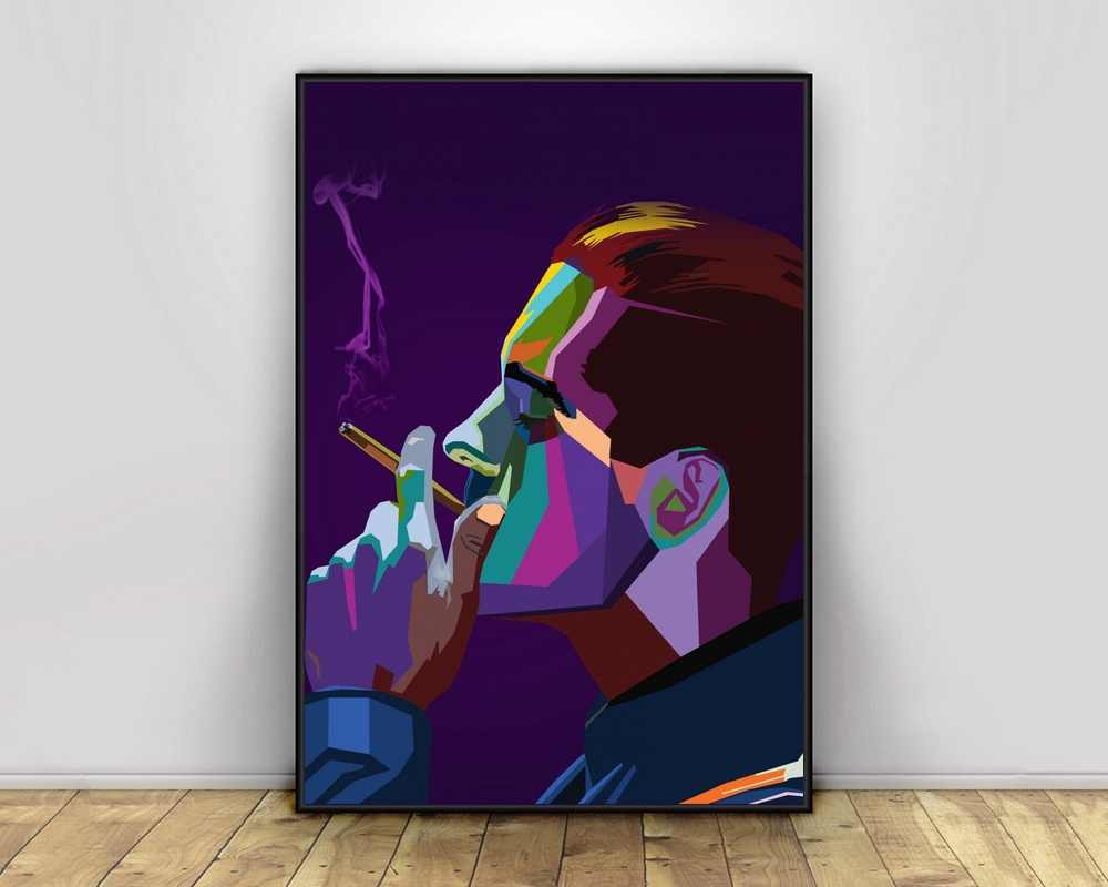 No Frame G-Eazy Music Poster Canvas Art Wall Home Decor