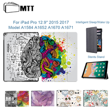 MTT Graffiti Case For iPad Pro 12.9'' 2015 2017 PU Leather Magnetic Flip Protective Tablet Case Smart Cover Auto Sleep/Wake Up protective flip open pu case w stand auto sleep for 8 asus fonepad 8 fe380cg red