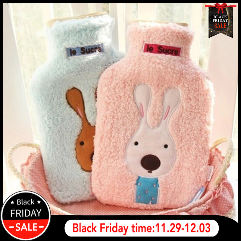 2016 New Creative Cute Cartoon Rabbit Hot Water Bottle Bag Safe And Reliable High-quality Rubber Washable Household Warm Items