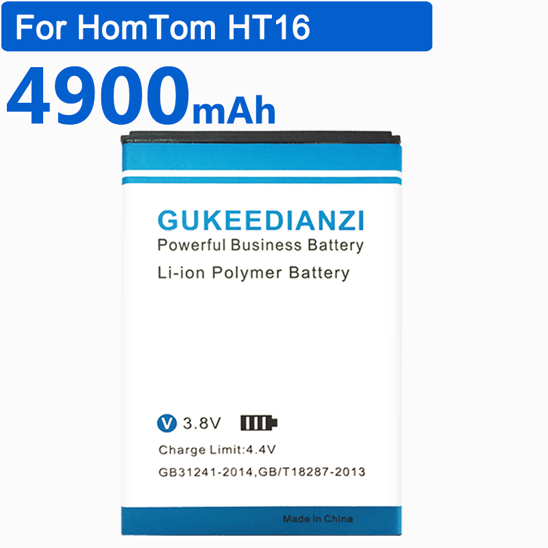 GUKEEDIANZI HT16 Cell Phone Li-ion Replacement Battery For HomTom HT16 4900mAh High Capacity 100% New Safe And Stable Batteries(China)