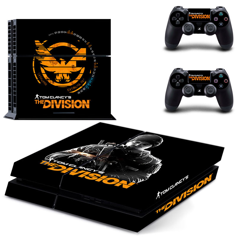Stickers Tom clancy's The Division PS4 Skin PS 4 Sticker Play station 4 Pegatinas For PlayStation 4 console and 2 controller image