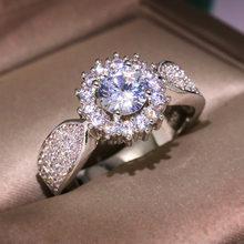 18 K Or 2 Carats Diamant Anneau De Pierres Précieuses pour Les Femmes Fines Anillos De Bizuteria Naturel Bijoux 18 K Or Bague Coussin Zircone Boîte